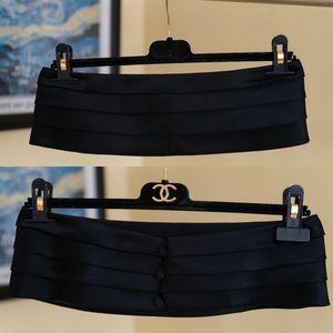 CHANEL Pleated Cummerbund Waist Belt